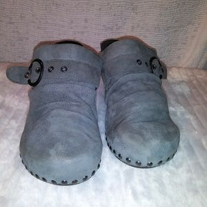 Grey Suede Dansko Clogs